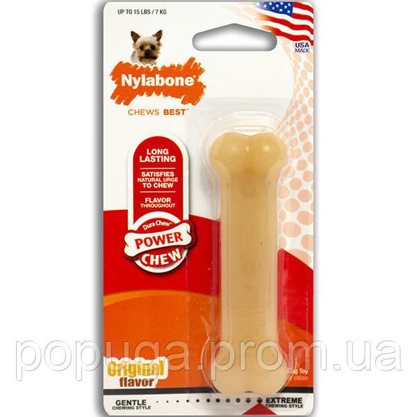 Nylabone DURA CHEW жувальна кістка іграшка для собак до 23 кг з інтенсивним стилем гризіння
