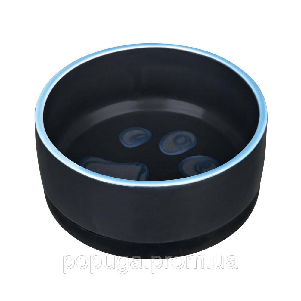 Керамическая миска для собак и щенков с резинкойTrixie Jimmy, 0,4л/12см
