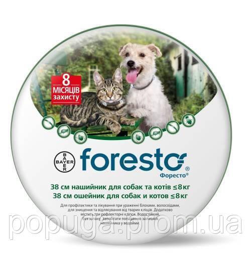 Foresto Bayer ошейник для собак и кошек от блох и клещей, 35 см