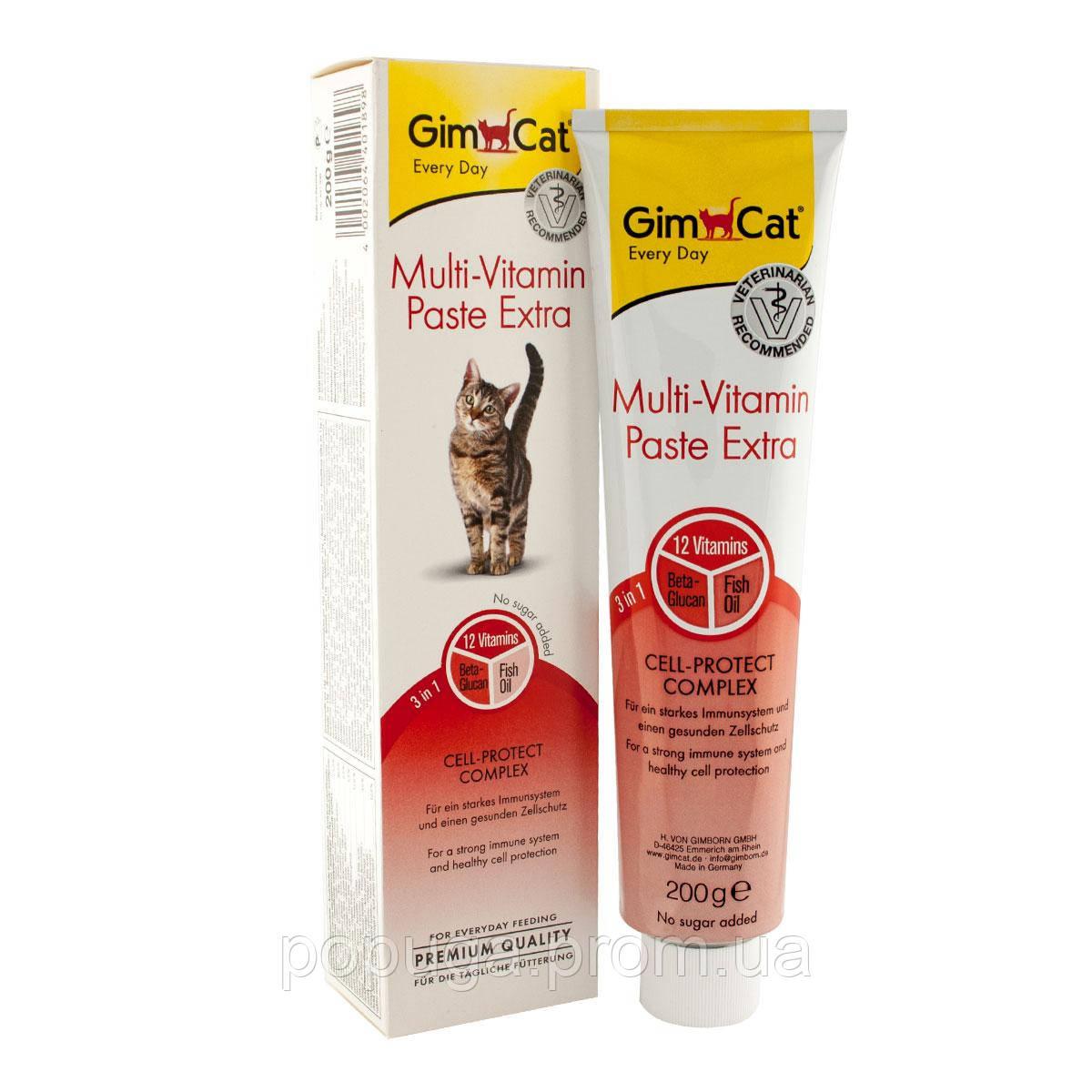 Gimсat Multi-Vitamin Paste Extra мультивитаминная паста для кошек, 50 г