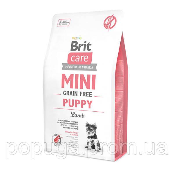 Корм Brit Care Grain-free Mini Puppy Lamb с ягненком для щенков малых пород, 7 кг