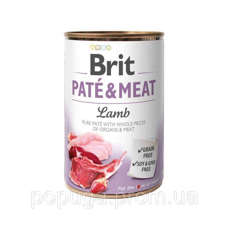 Консервы Brit Paté & Meat с ягненком, 400 г