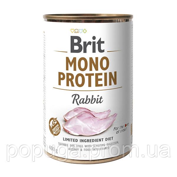 Консервы Brit Mono Protein с кроликом, 400 г