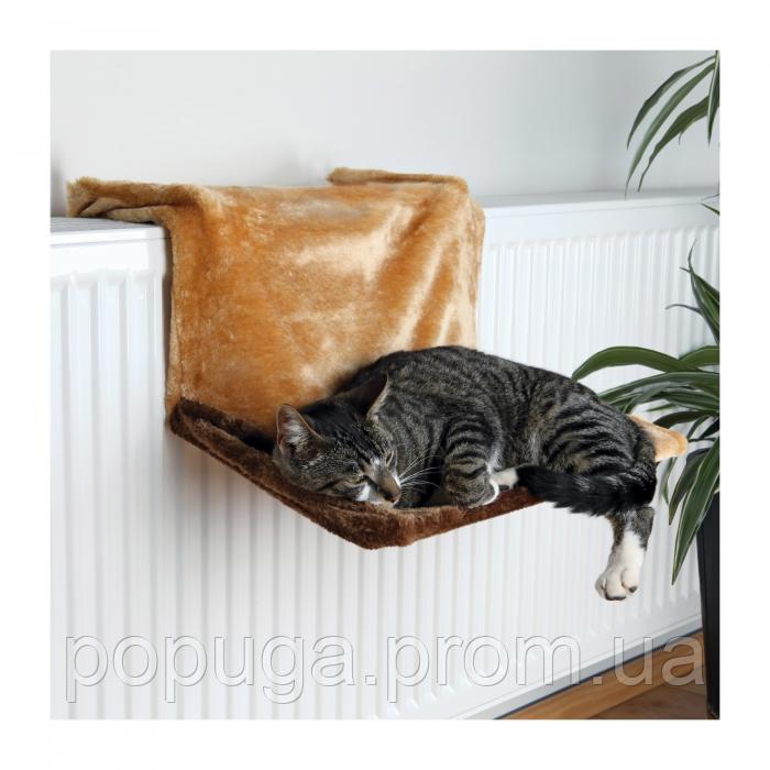 Гамак на батарею для кошек Trixie светло-коричневый, 45*31*24см