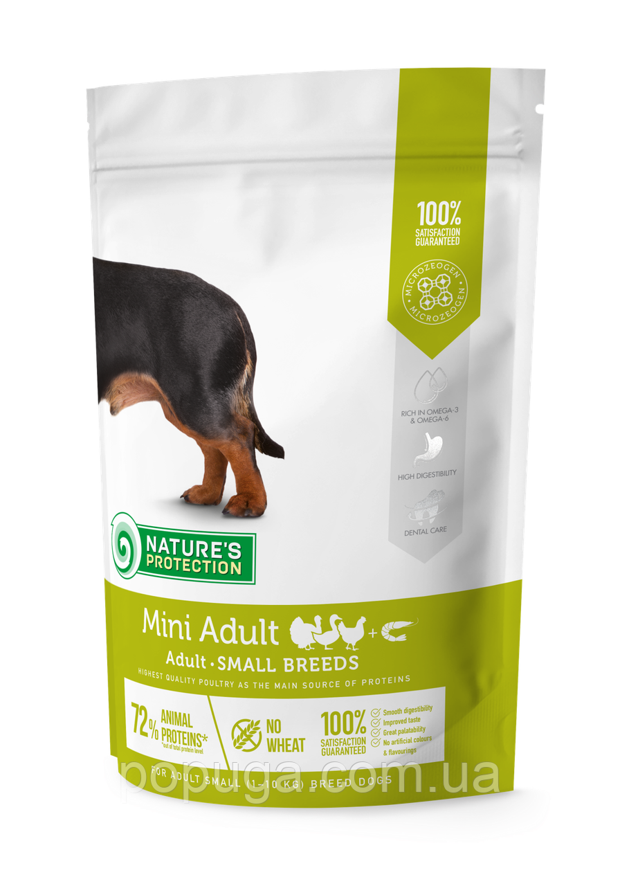 Natures Protection MINI ADULT КУРИЦА И РИС корм для взрослых собак малых пород, 7,5 кг