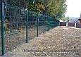 Секция ограждения забора из Сварной сетки 1х2,5м (зеленая) Ø  прута 3 и 4мм, фото 3