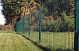 Секция ограждения забора из Сварной сетки 1х2,5м (зеленая) Ø  прута 3 и 4мм, фото 4