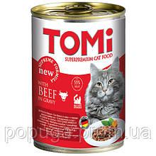 TOMi beef ГОВЯДИНА консервы для котов, 400 г