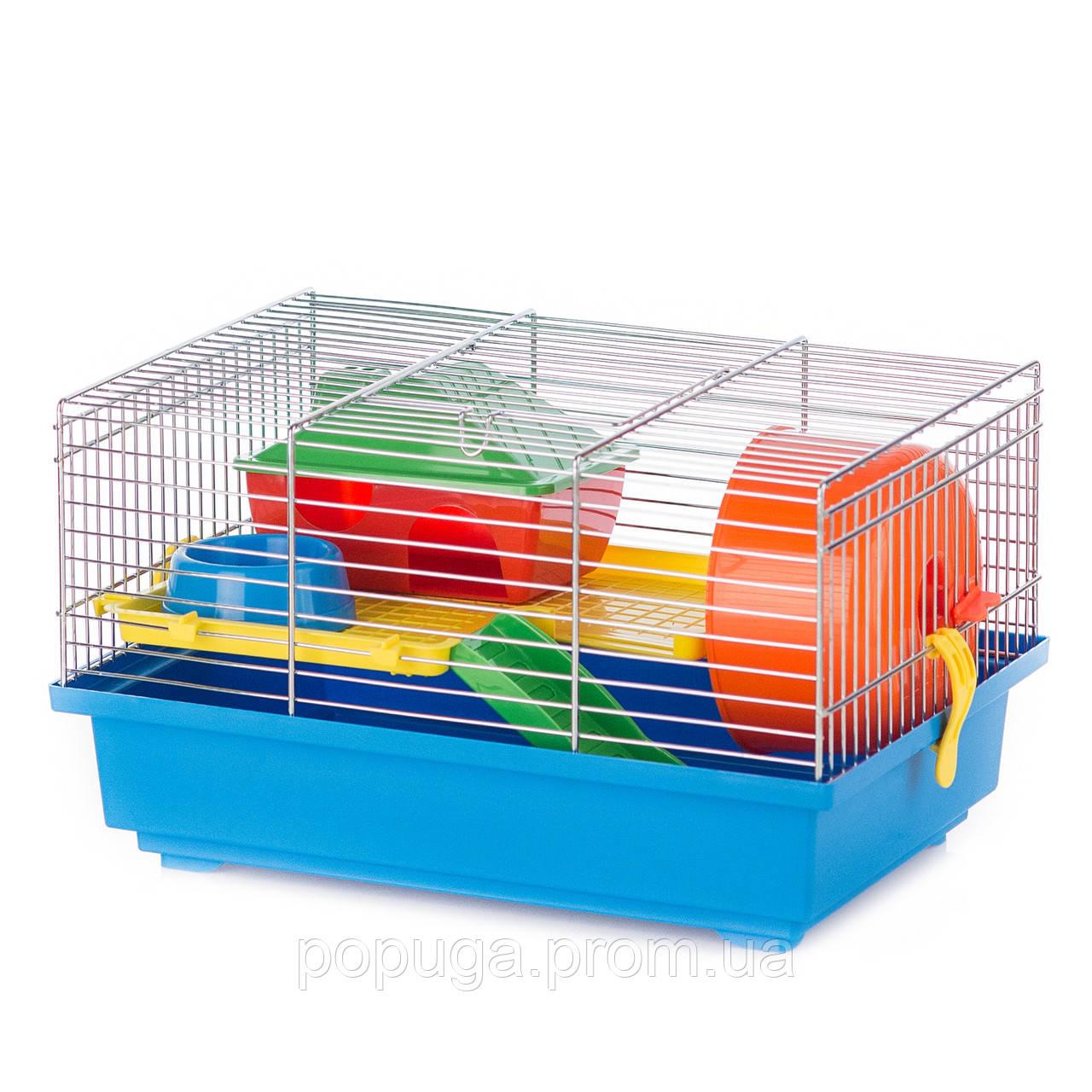 Клетка для грызунов, цинк TEDDY+PL InterZoo 36*24*21 см