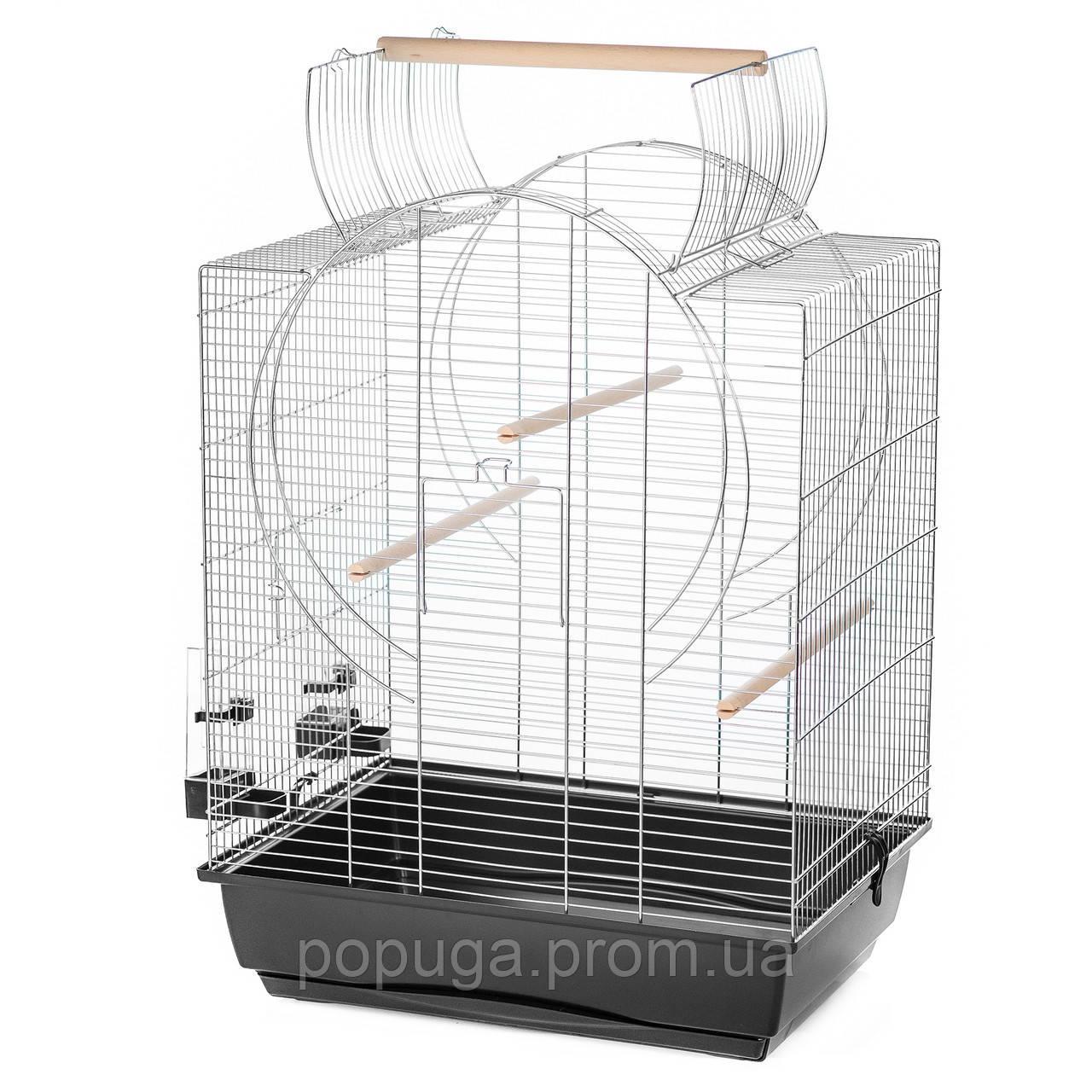 Клетка для попугая EMMA Inter zoo хром, 54*39*72(85) см