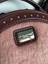 Женская сумка кругляшка Дэвид Джонс Original сирень-пудра, фото 3