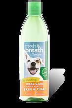 Tropiclean FRESH BREATH PLUS SKIN&COAT добавка в воду для собак Свежее дыхания и кожа и шерсть, 473 мл