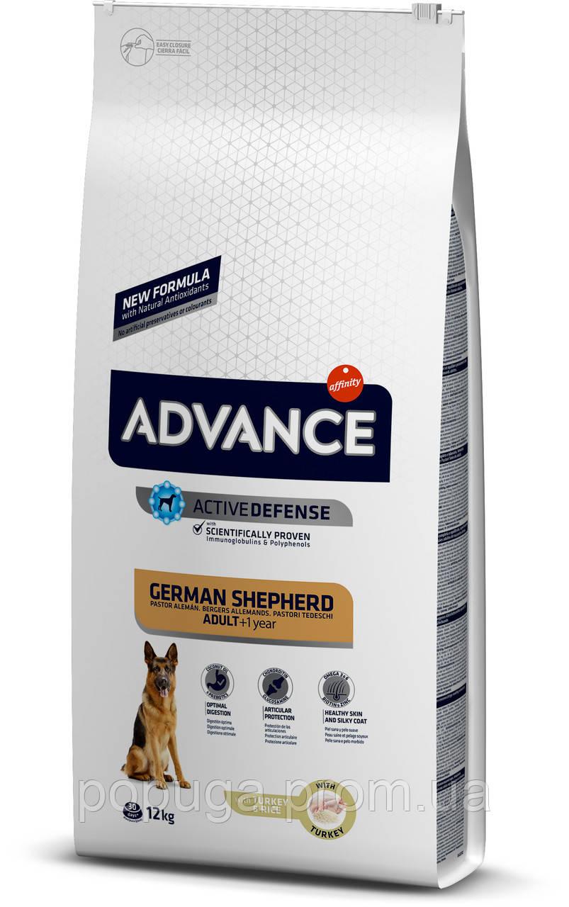 Advance Dog Maxi German Shepherd корм для взрослых немецких овчарок c индейкой и рисом, 12 кг