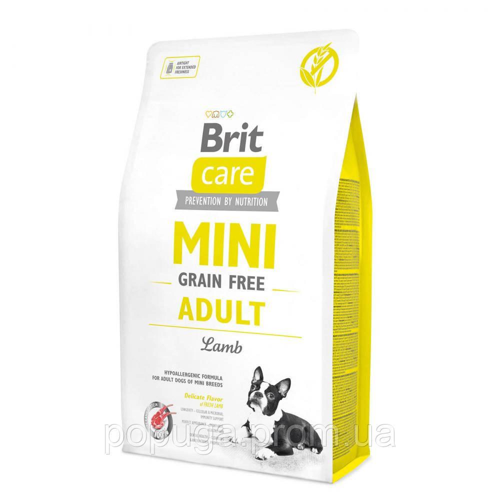 Brit Care Grain-free ADULT MINI LAMB беззерновой корм для дорослих собак міні порід, 7 кг