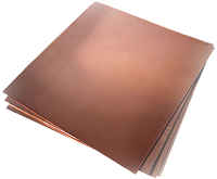 Лист медный 0,4мм 600х1500 мм М1, М2