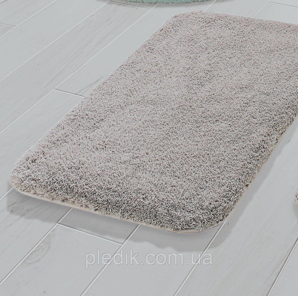 Коврик для ванной 55х60 Confetti Miami L. Mink (Acik Vizon) беж-серый
