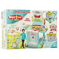 """Детский игровой набор доктора """"Передвижной стол с медицинскими инструментами"""""""