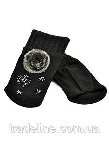 PODIUM Перчатка Женская вязка FO-3 black Распродажа