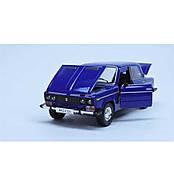 Машинка ВАЗ 2106 открывается багажник, капот, двери Автопром синяя синяя со звуком, светом, фото 2