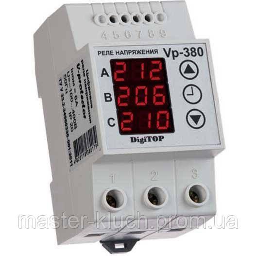 Реле контроля напряжения и фаз DigiTOP V-protector 380A