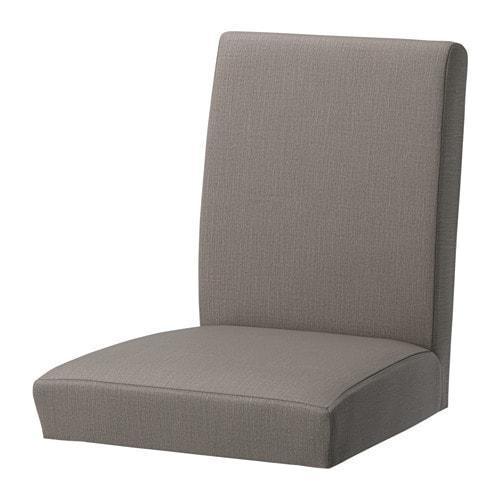 ИКЕА (IKEA) ХЕНРИКСДАЛЬ, 403.016.33, Чехол на стул, Нольхага серо-бежевый - ТОП ПРОДАЖ