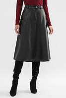 Теплая юбка трапеция мод. №46 (кожа)