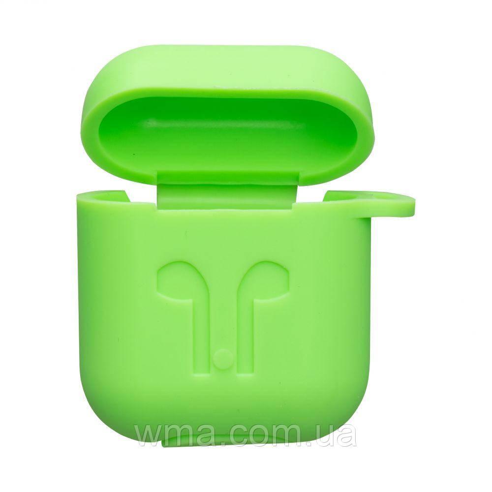 Футляр для наушников Airpod Full Case Цвет Салатовый