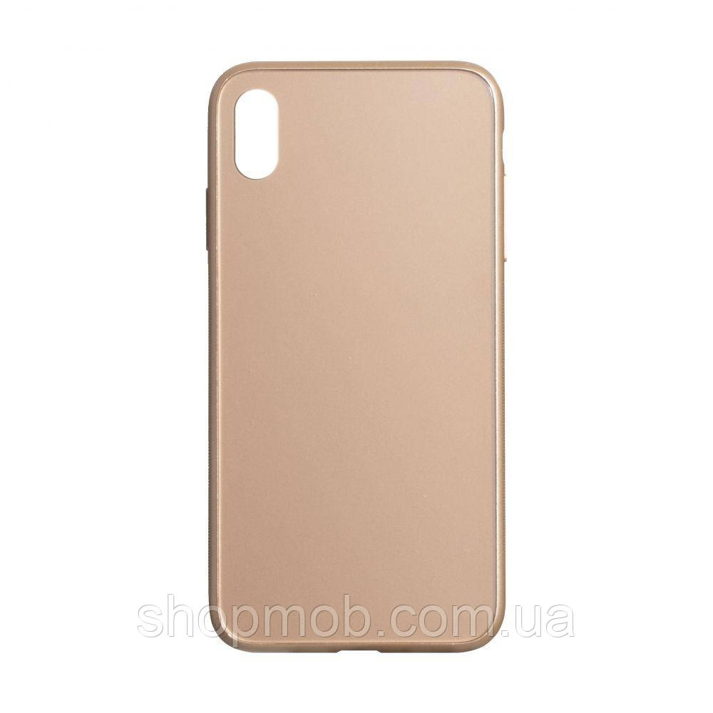 Чехол TPU Matt for Apple Iphone Xs Max Цвет Золотой