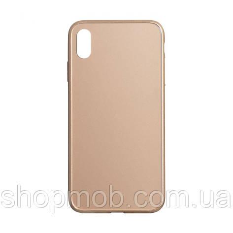 Чехол TPU Matt for Apple Iphone Xs Max Цвет Золотой, фото 2