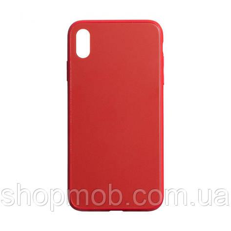 Чехол TPU Matt for Apple Iphone Xs Max Цвет Красный, фото 2