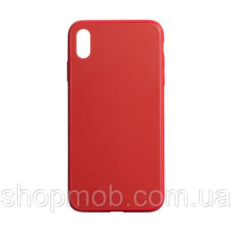 Чехол TPU Matt for Apple Iphone X / Xs Цвет Красный, фото 2