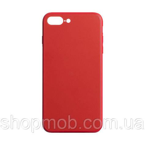 Чехол TPU Matt for Apple Iphone 7 Plus / 8 Plus Цвет Красный, фото 2