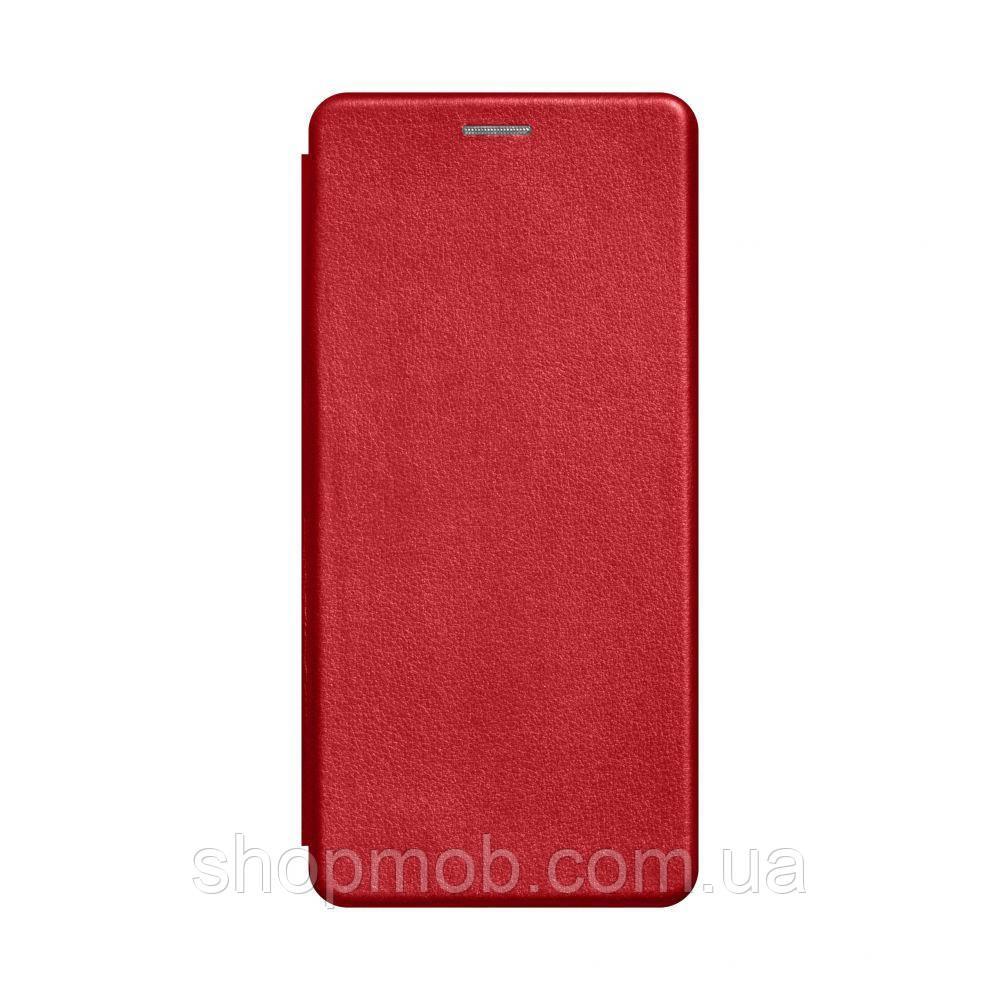 Чехол-книжка кожа Samsung A21s Цвет Красный