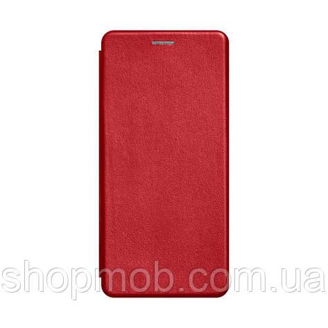 Чехол-книжка кожа Samsung A21s Цвет Красный, фото 2