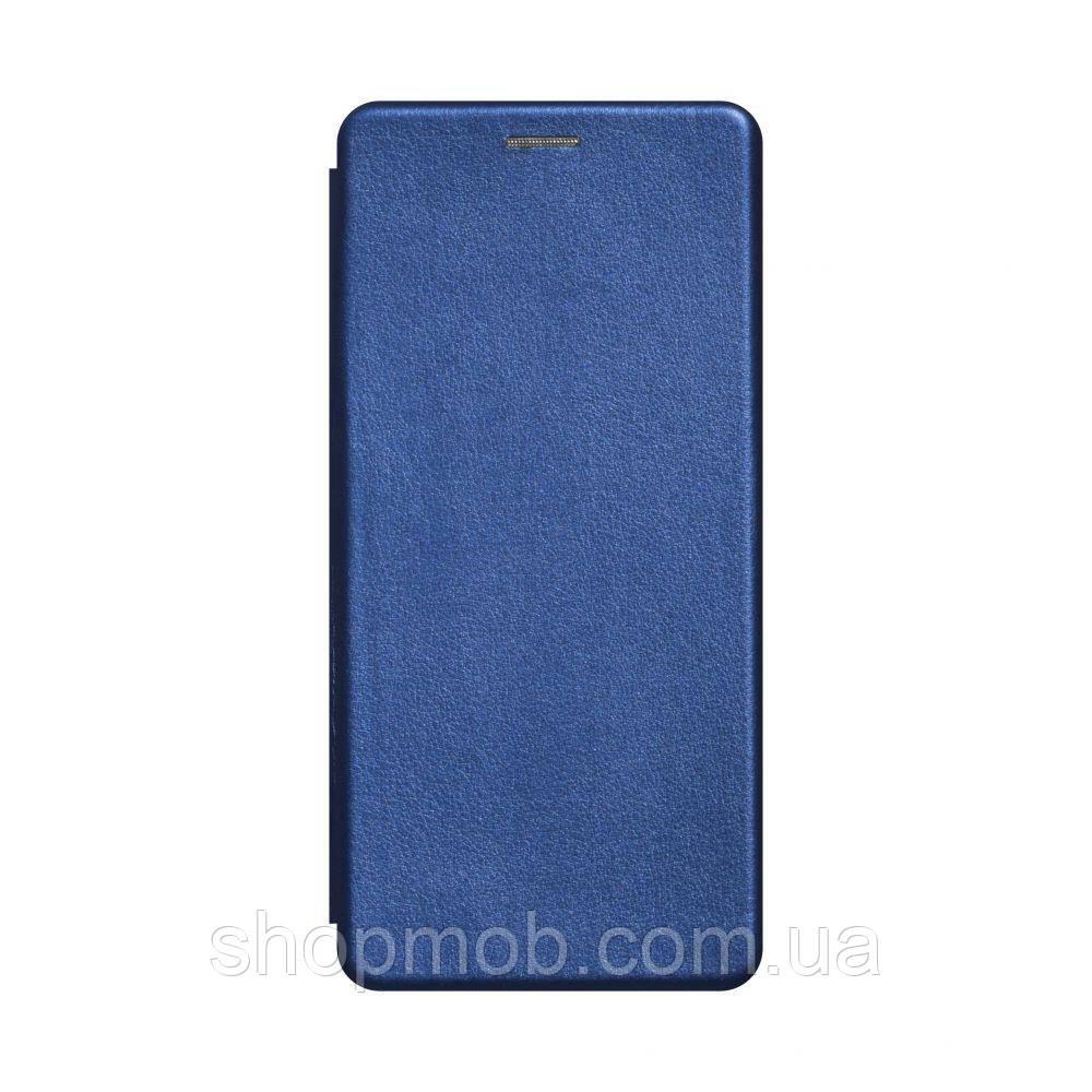 Чехол-книжка кожа Samsung A21s Цвет Синий