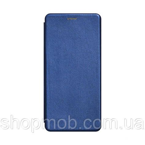 Чехол-книжка кожа Samsung A21s Цвет Синий, фото 2