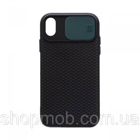 Чехол накладка для смартфонов (с защитой камеры) Non-slip Curtain for Apple Iphone Xr Цвет Зелёный, фото 2