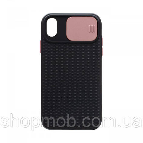 Чехол накладка для смартфонов (с защитой камеры) Non-slip Curtain for Apple Iphone Xr Цвет Розовый, фото 2