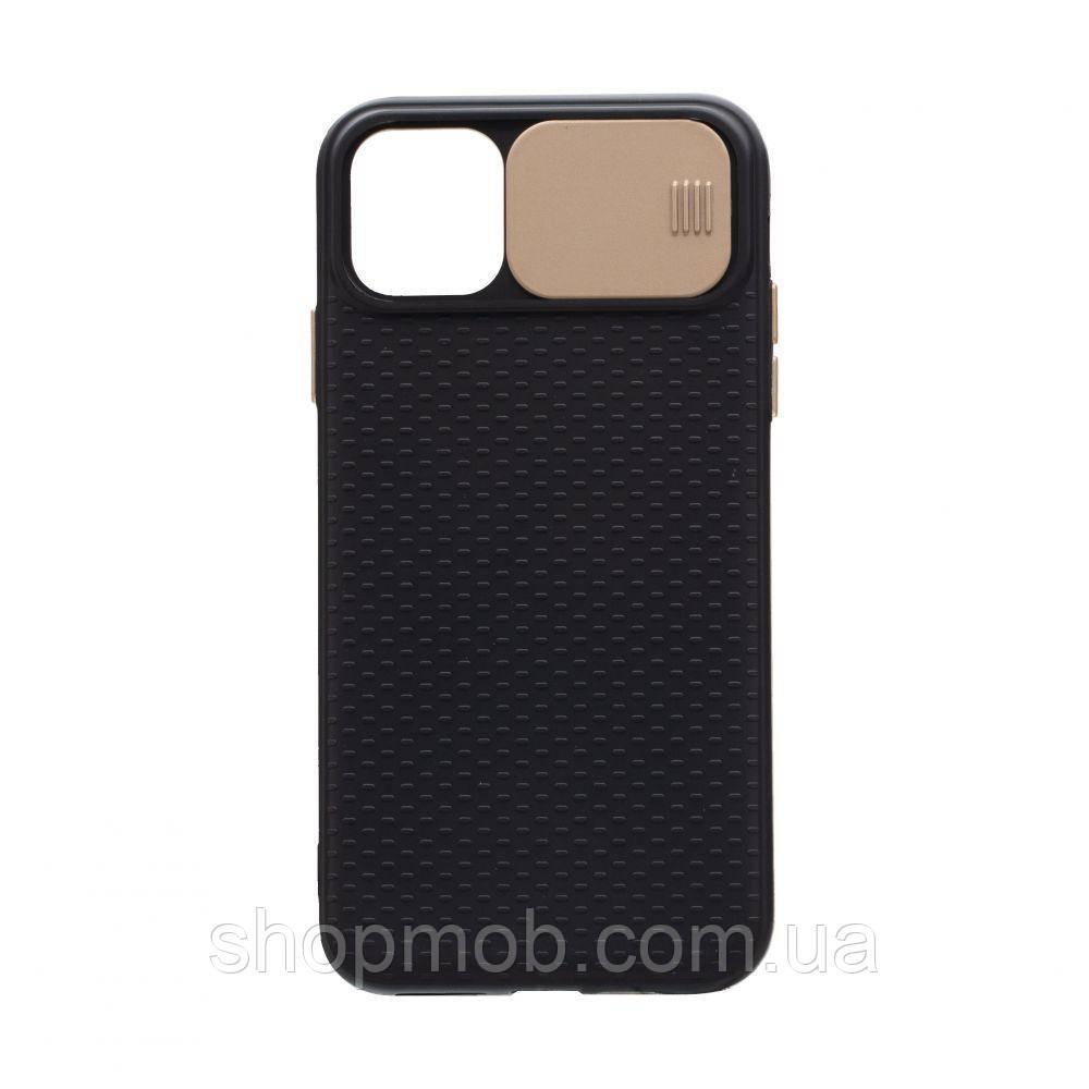 Чехол накладка для смартфонов (с защитой камеры) Non-slip Curtain for Apple Iphone 11 Цвет Золотой