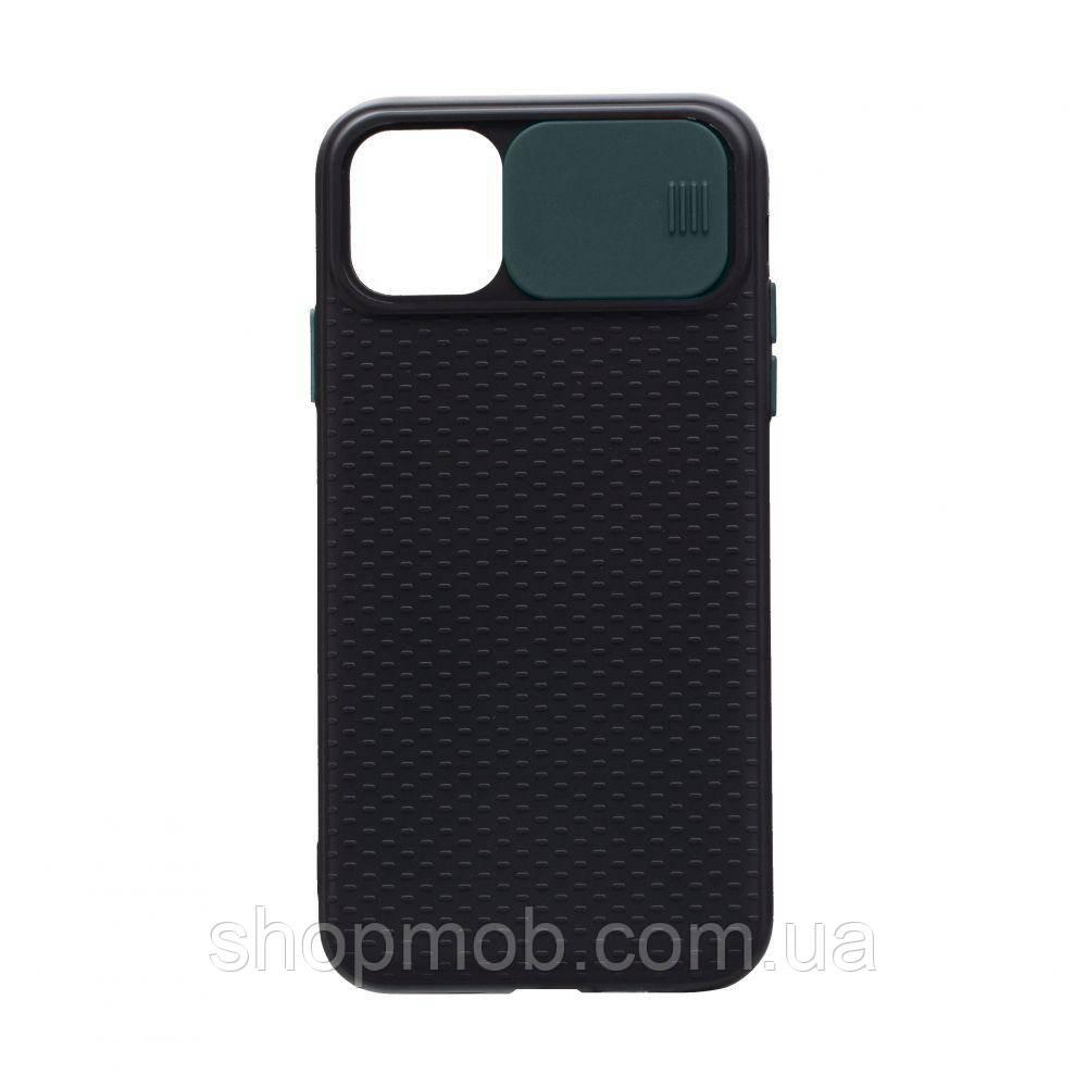 Чехол накладка для смартфонов (с защитой камеры) Non-slip Curtain for Apple Iphone 11 Цвет Зелёный