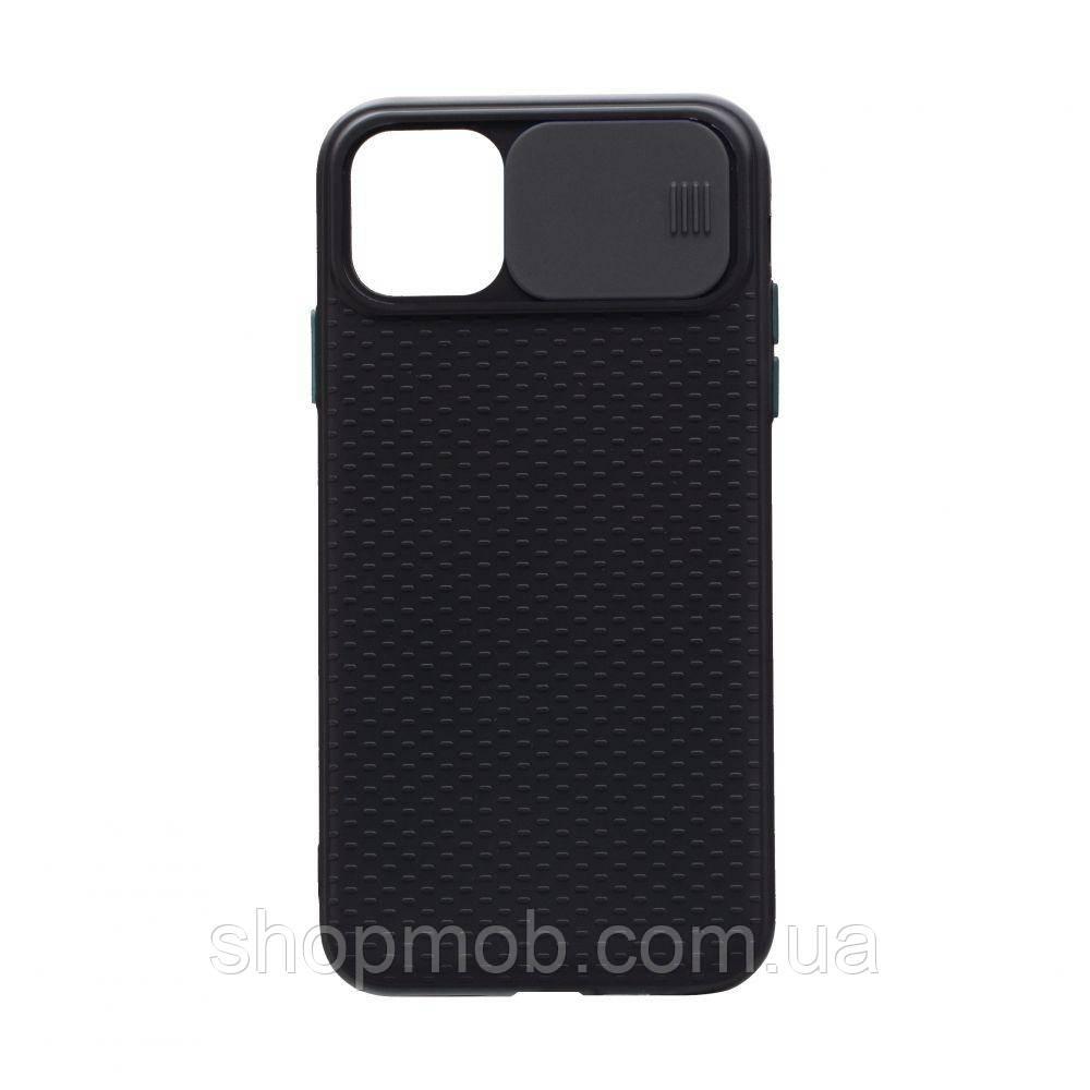 Чехол накладка для смартфонов (с защитой камеры) Non-slip Curtain for Apple Iphone 11 Цвет Чёрный