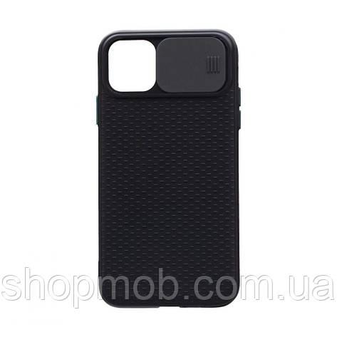 Чехол накладка для смартфонов (с защитой камеры) Non-slip Curtain for Apple Iphone 11 Цвет Чёрный, фото 2