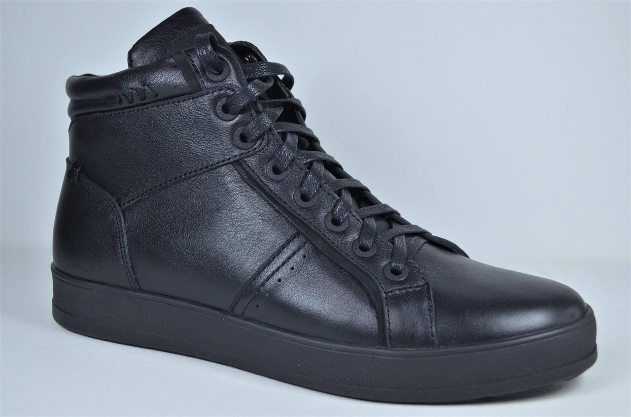 Чоловічі демісезонні шкіряні черевики чорні кеди eD - Ge Z - B