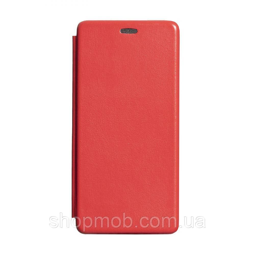 Чехол-книжка кожа Samsung S20 Plus 2020 Цвет Красный