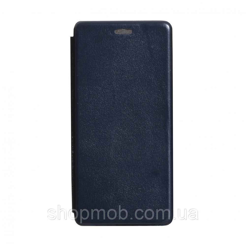 Чехол-книжка кожа Samsung S20 Plus 2020 Цвет Тёмно-Синий