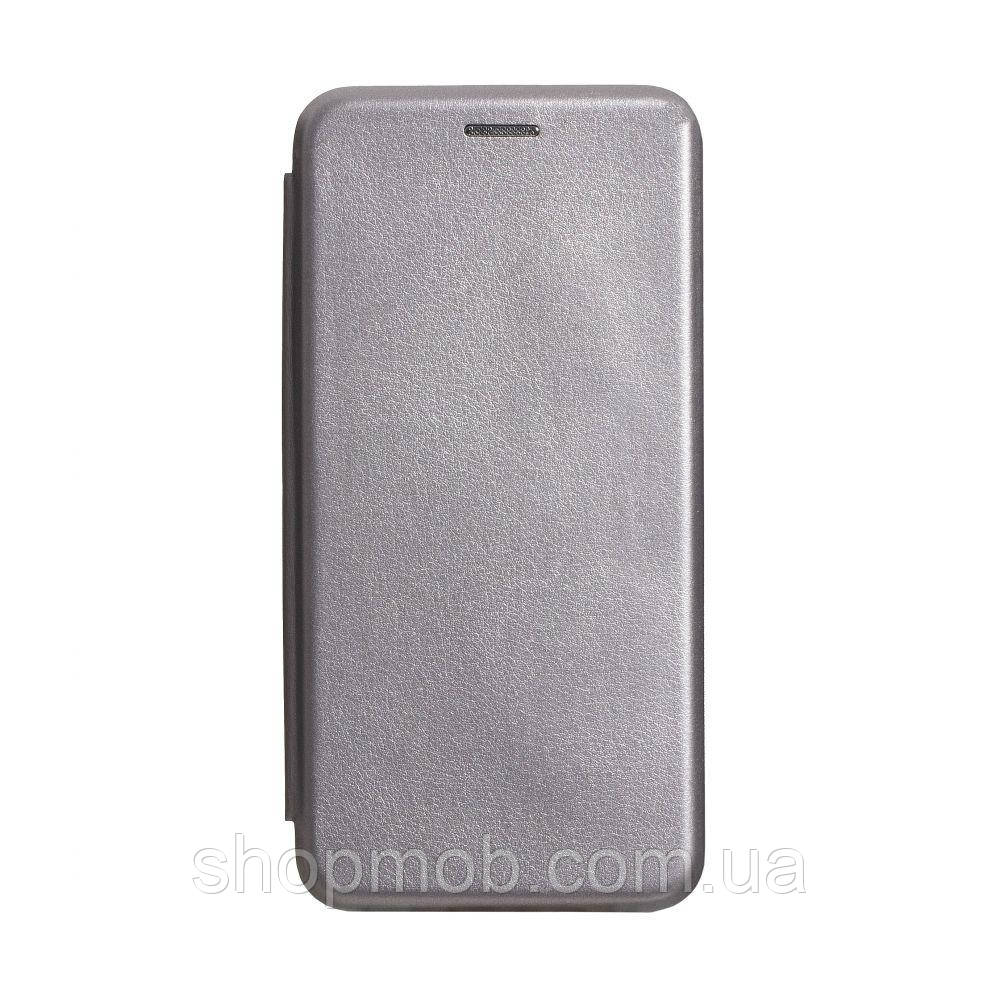 Чехол-книжка кожа Samsung S20 2020 Цвет Серый