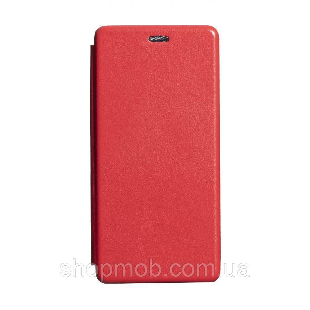 Чехол-книжка кожа Samsung S20 Ultra 2020 Цвет Красный