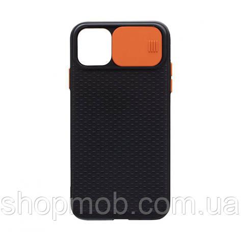 Чехол накладка для смартфонов (с защитой камеры) Non-slip Curtain for Apple Iphone 11 Pro Max Цвет Оранжевый, фото 2