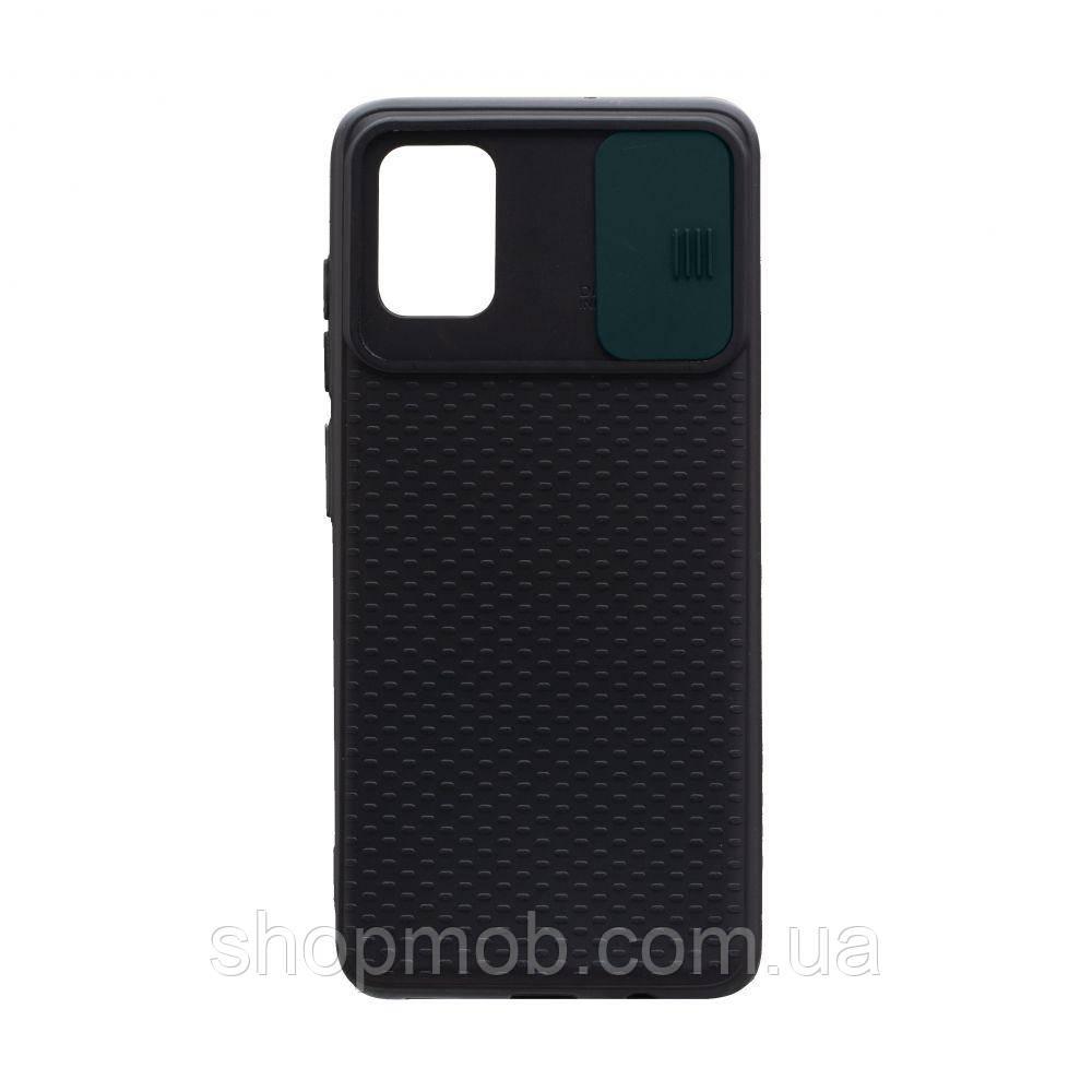 Чехол накладка для смартфонов (с защитой камеры) Non-slip Curtain for Samsung A51 Цвет Зелёный