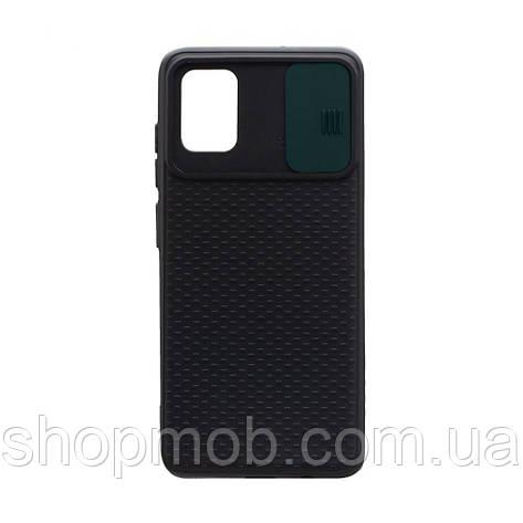 Чехол накладка для смартфонов (с защитой камеры) Non-slip Curtain for Samsung A51 Цвет Зелёный, фото 2
